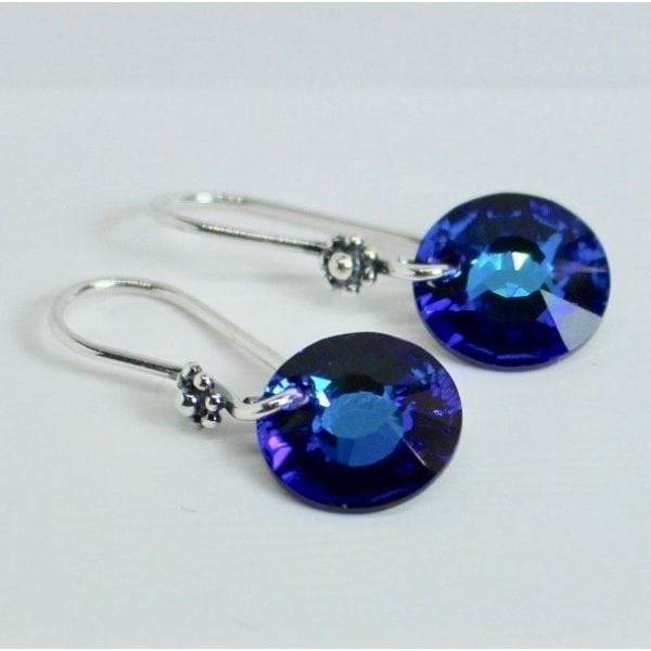 bermuda blue crystal dangles