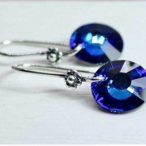 bermuda blue crystal dangles