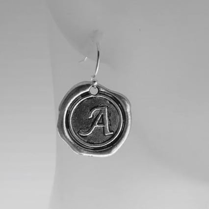 initial letter earrings