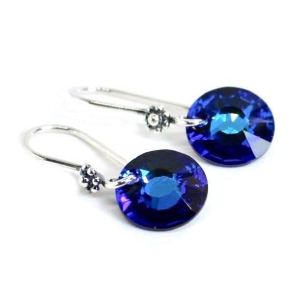 Swarovski Crystal Bermuda Blue Dangle Earrings