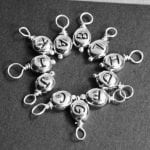 wire wrapped letter bead