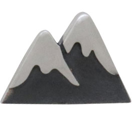 snow cap mountain post earrings