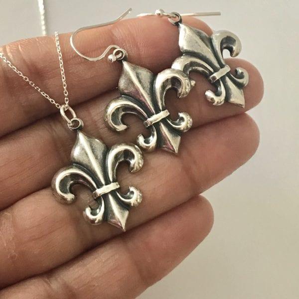 silver flower jewelry