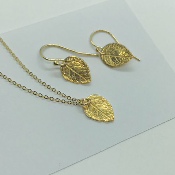 gold leaf jewelry